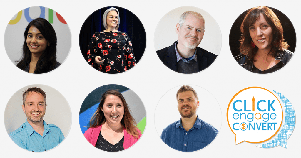 Speakers at Click Engage Convert Digital Marketing conference in Melbourne on October 12th 2018